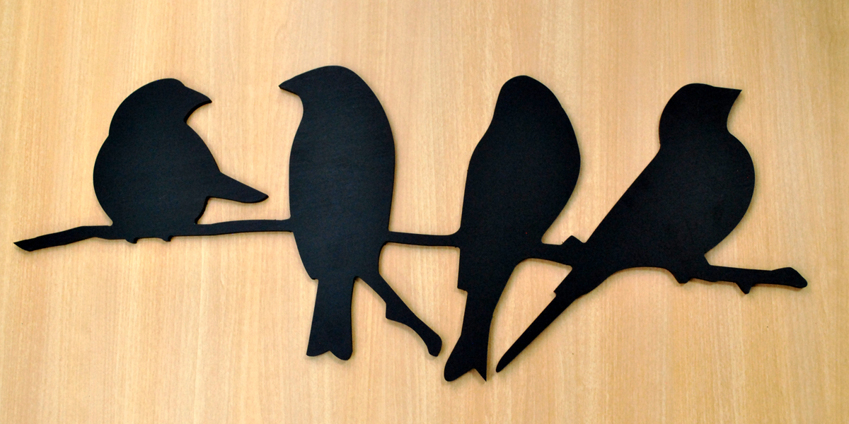 Four Birds on a Branch – Wall Décor – Zoomer Display